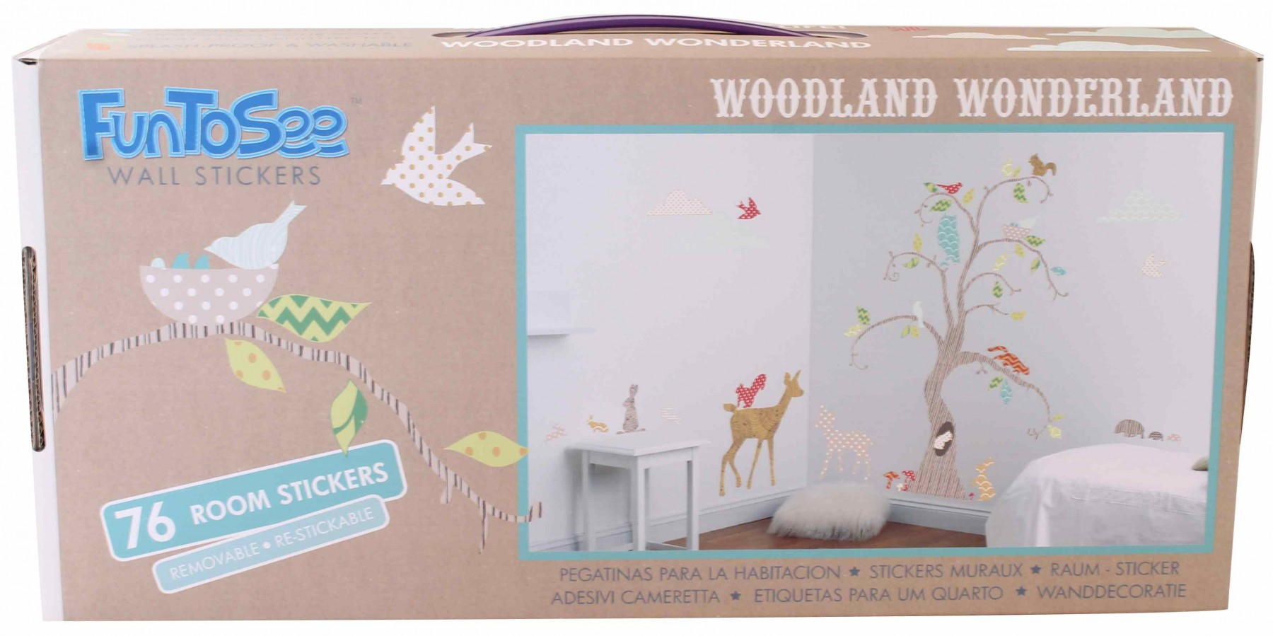 Amazing Fun To See Wall Stickers With Woodland Theme Awesome Design