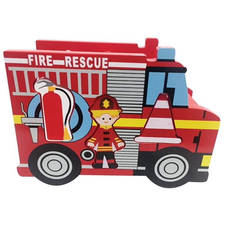 House of Marbles Wooden Fire Engine Shape Sorter