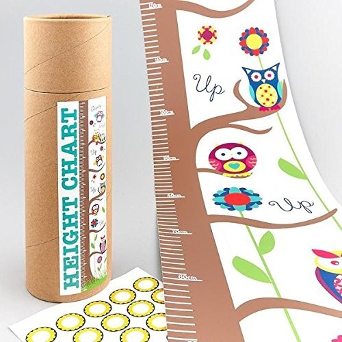 Floss & Rock Height Chart with stickers  Owl or Pirate themed