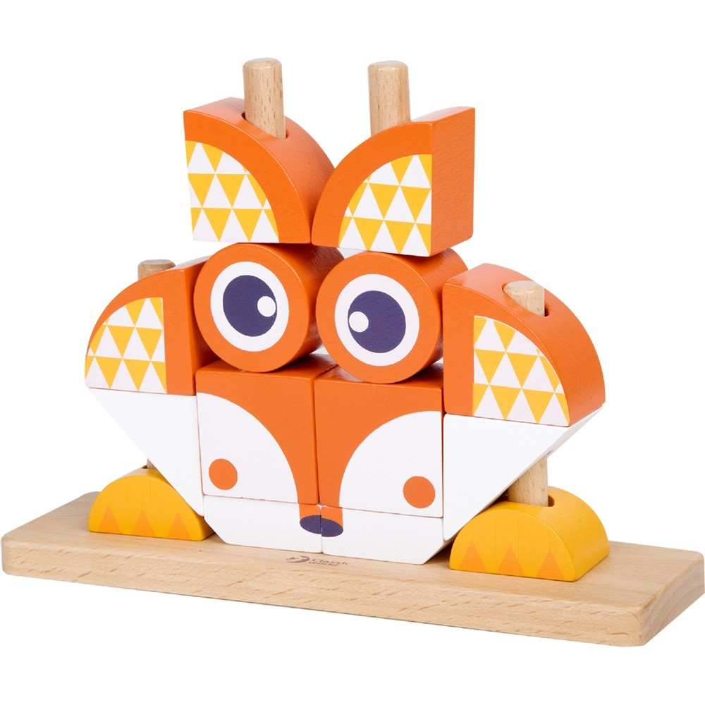 Classic World Wooden Blocks Set Owl or Fox
