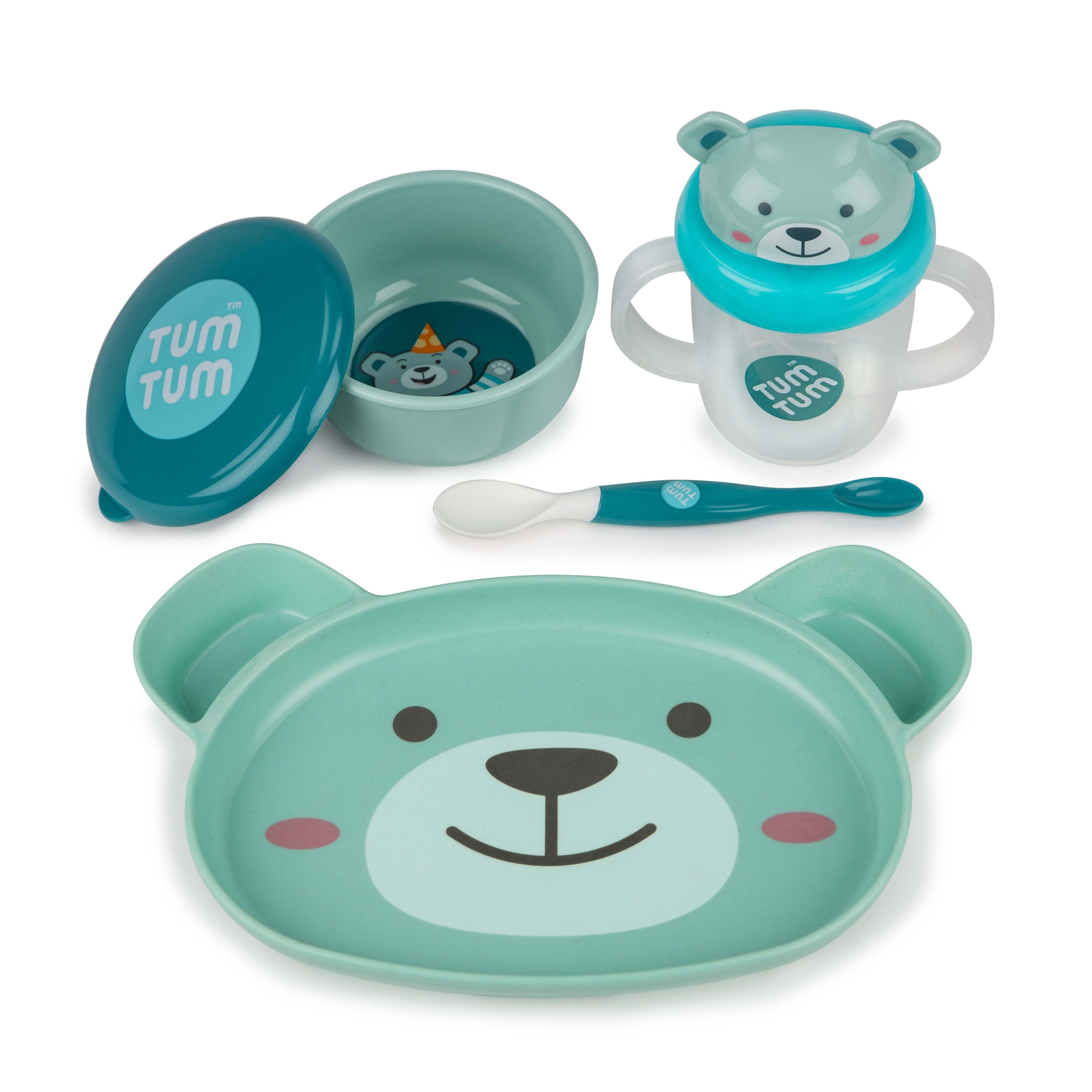 Tum Tum Boris Bear Baby Weaning Set - 4 pieces BPA Free