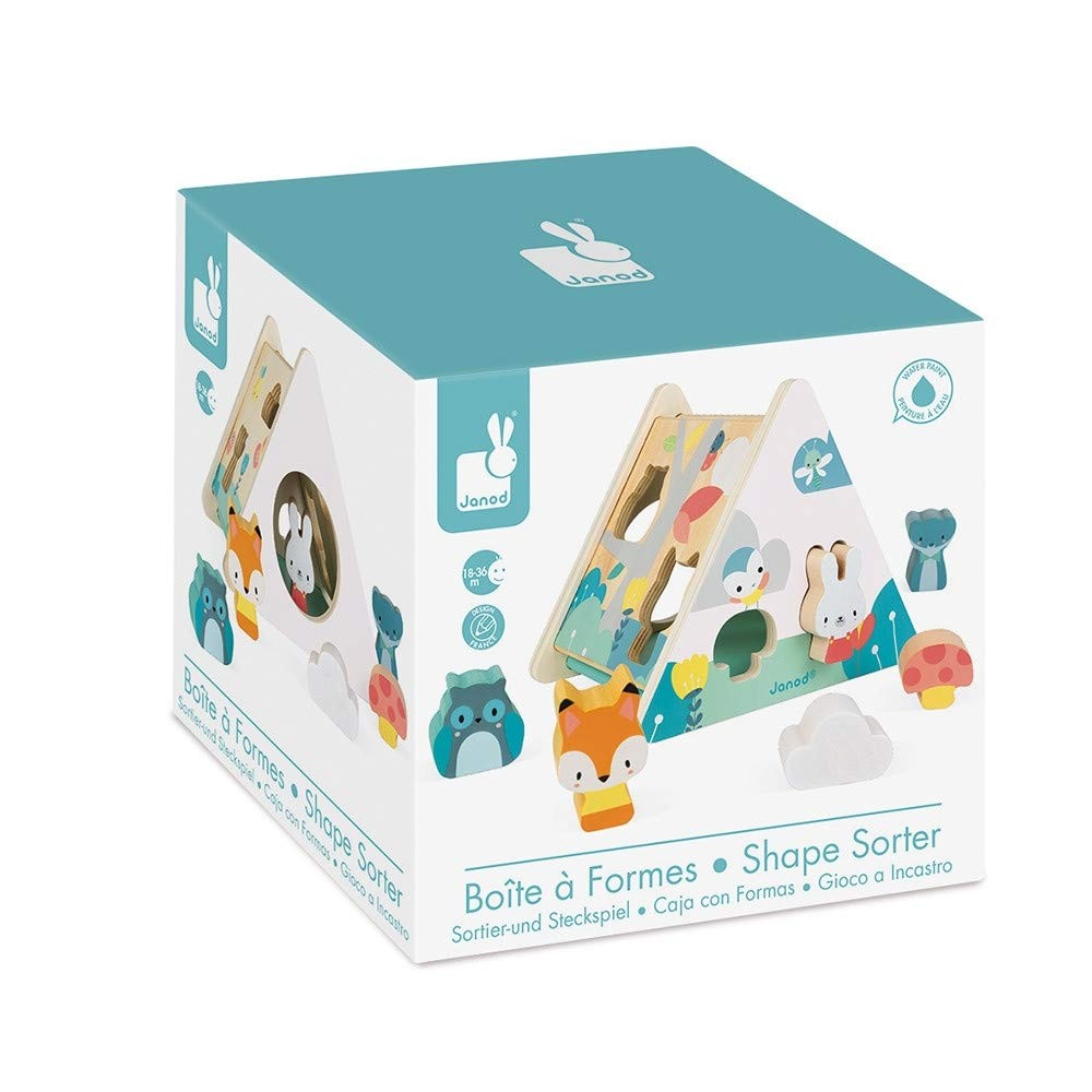 Janod Wooden Triangular Shape Sorter