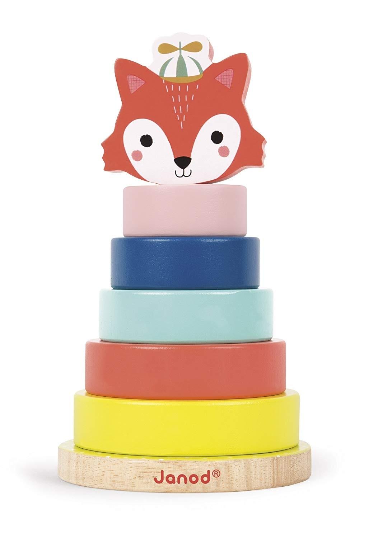 Janod Jura Toys J08014 Baby Forest Fox Stacker