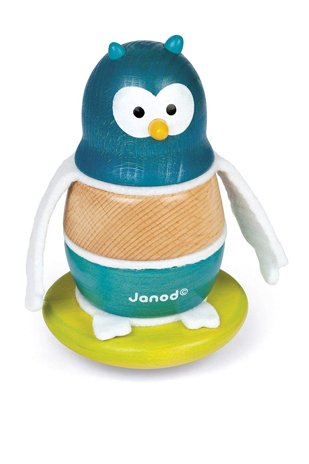 Janod ZigolosWooden Stacker And Rocker - Owl or Penguin