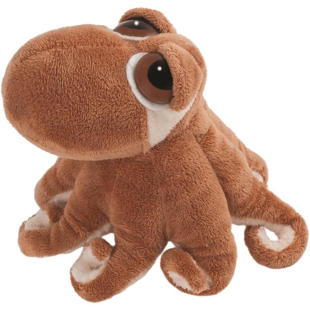Suki Gifts Li'L Peepers Sealife Creatures Octavius Octopus Soft Boa Plush Toy (Brown/White)