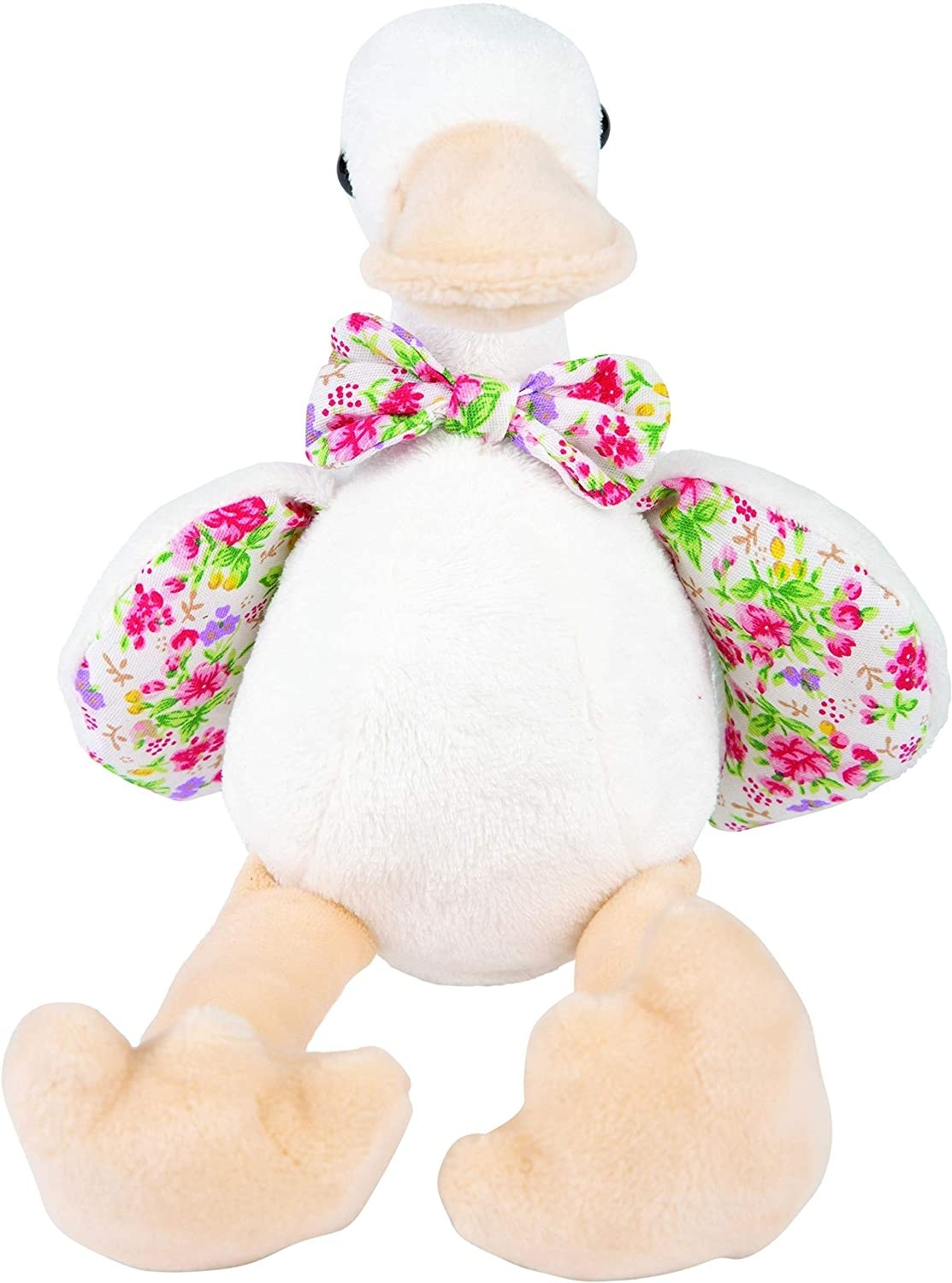 Suki Gifts 14425 Ditsy Floral Delphi Duck Cuddly Toy, Multi-Colour