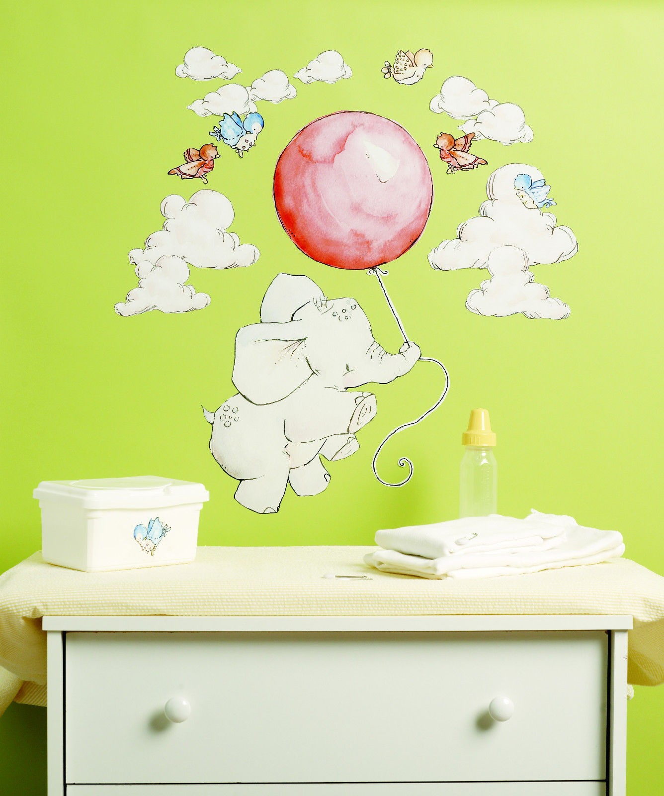 Wallies Baby Flying High Colourful Wall Stickers