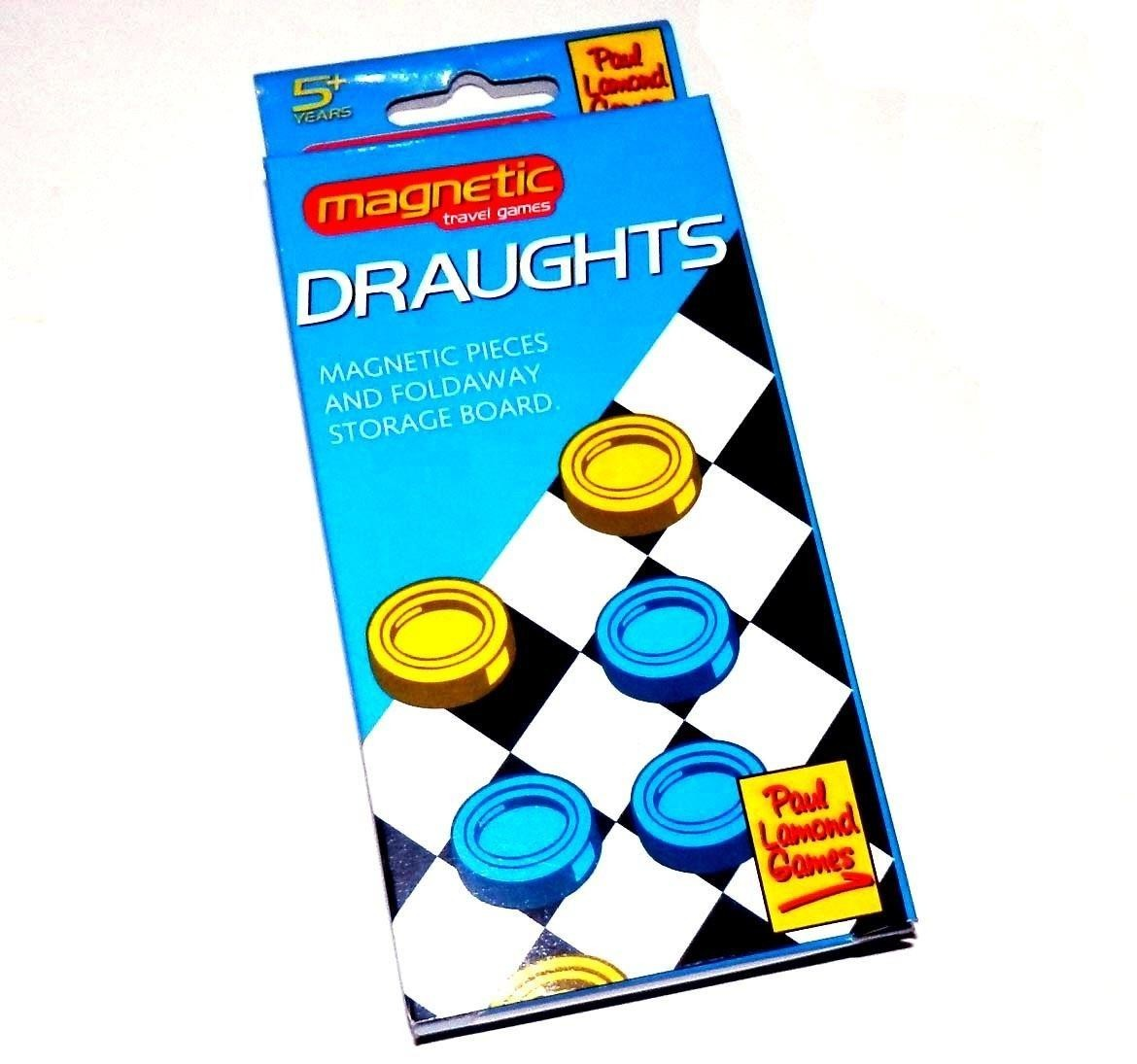 Paul Lamond Magnetic Travel Games - Draughts or Snakes and Ladders