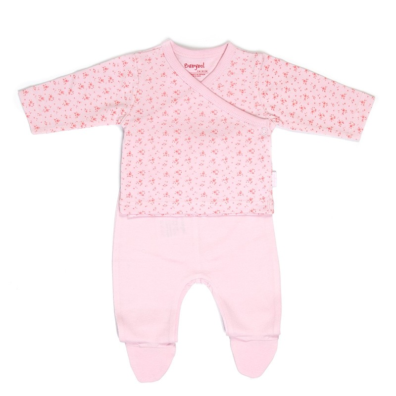"Boxed ""Floral"" Two Piece Set by Babybol Barcelona"