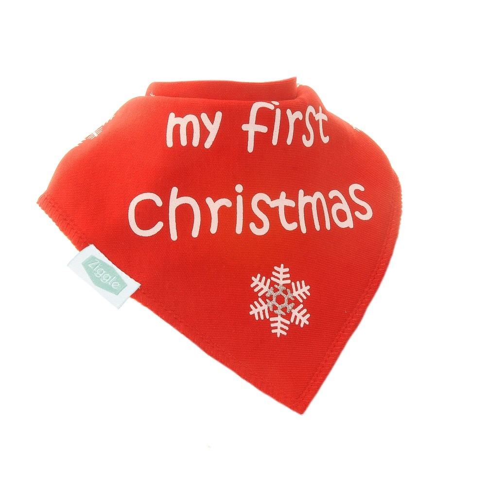 Ziggle My First Christmas Bib