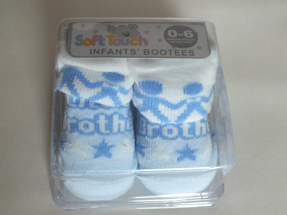 Little Brother Bootees By Soft Touch