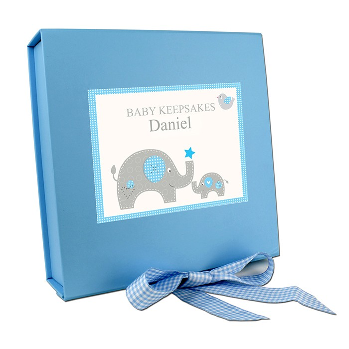 Baby Blue Elephant Gift Set With Baby Vest