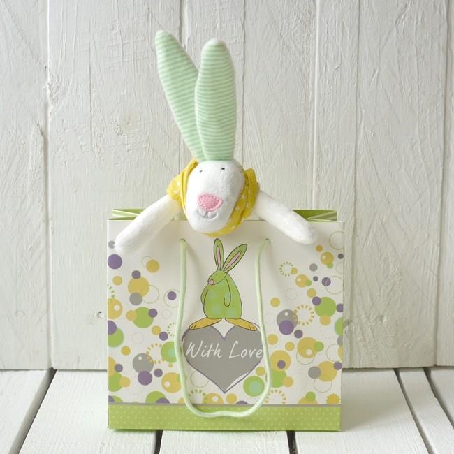 Rufus Rabbit Comforter In Gift Bag