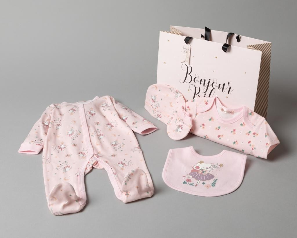 Ballet 5 Piece Set with Gift Bag   Three sizes Newborn to six month