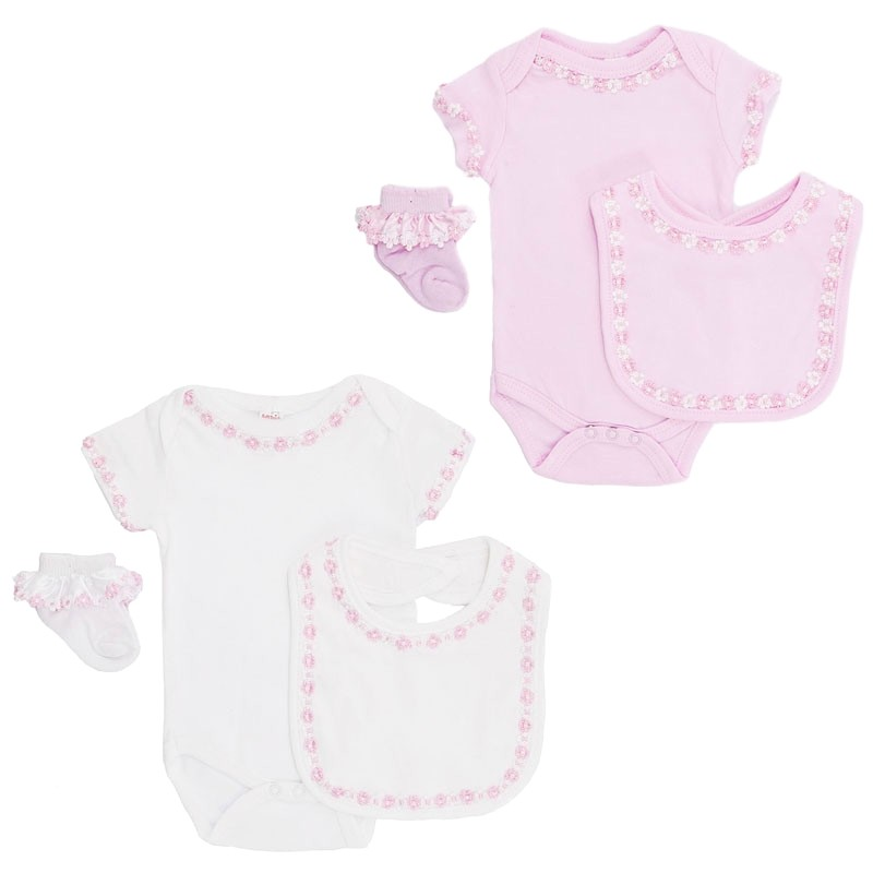 layette set by Soft Touch Baby Girl 0-6 months  White