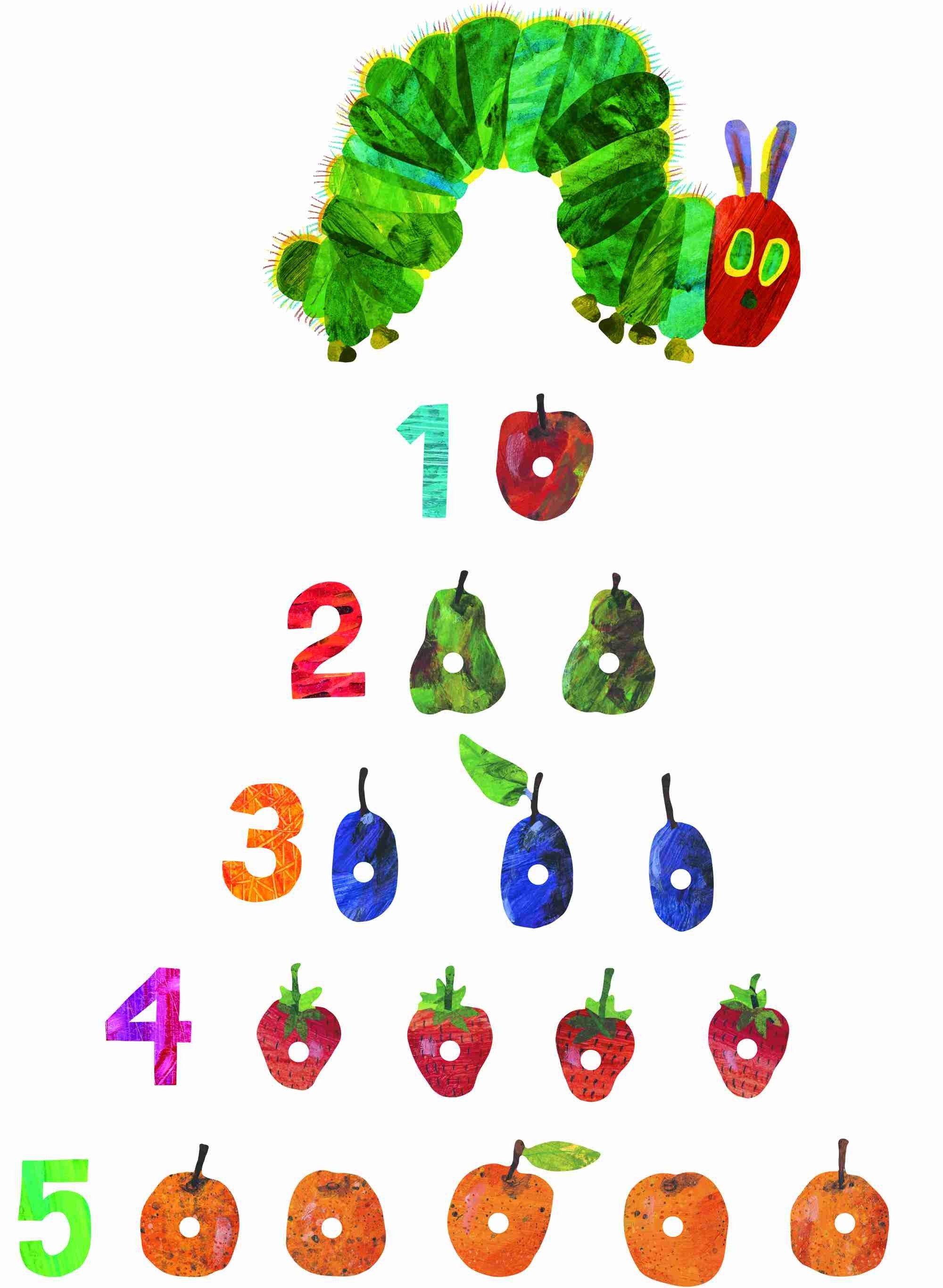 Very Hungry Caterpillar Wall Stickers Very Hungry Caterpillar By Eric Carle Wall Stickers