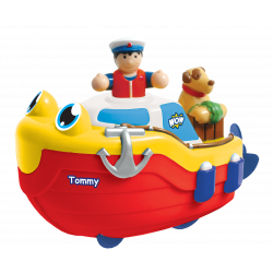 Fireboat Felix, Tommy Tug Boat, Sunny Submarine, Perry Police Boat    WOW Bath Toys