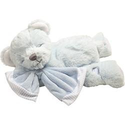 Suki Baby Hug-a-Boo Super Soft Plush Musical Sleeping Bear with Soft Boa Blankie, Pink or Blue