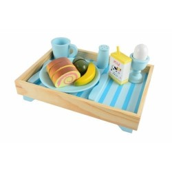WOODEN CHILDREN'S BREAKFAST TRAY BY MAGNI TOYS. BLUE