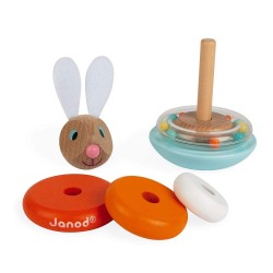 Janod J08248 Wood Lapin Stackable Roly-Poly Rabbit
