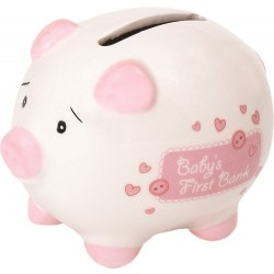 Suki Gifts International Baby's First Piggy Bank Ceramic Piggy Bank in Gift Box