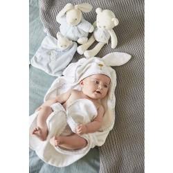 Kaloo K969967 Perle-My Rabbit Bath Cape, White