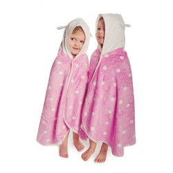 Cuddledry cuddlebug soft pink  polkadot toddler towel