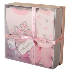 4 piece gift set for baby girl  by Kris X Kids newborn ( 0-3 months)
