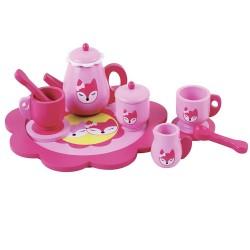 Pink Fox Tea Set by Jumini