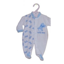 Boy's Low Birth Weight Velour with Bunny Pattern
