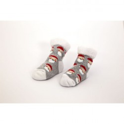 Towelling Baby Socks in Disney Christmas bauble 0-6 months