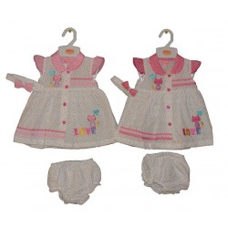 Girl's 3 Piece Set With Cat Motif