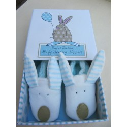 Rufus Rabbit Sensory slippers 0-6 months Pink or Blue