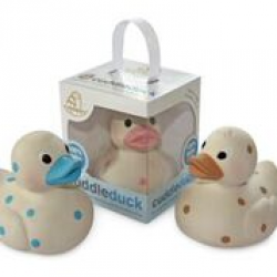 Cuddleduck Polka Dot Duck by Cuddledry