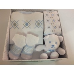 4 piece gift set by Kris X kids  for baby boy newborn 0-3 months