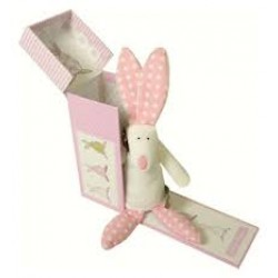 Rufus Rabbit Rattle In A Box by Little Dog Laughed
