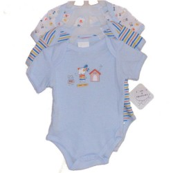 Triple Pack of  Short-Sleeved Bodysuits