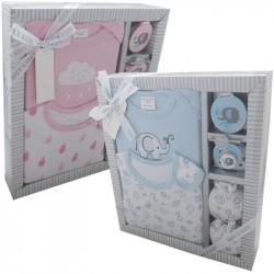 Kris X Kids Elephants 4 Piece Gift Set Pink or Blue