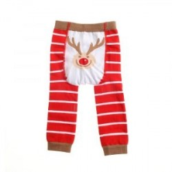 Reindeer Christmas Leggings by Ziggle 12-24 months