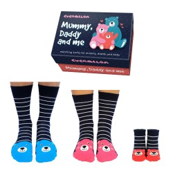 Mummy Daddy and Me socks by Cucamelon