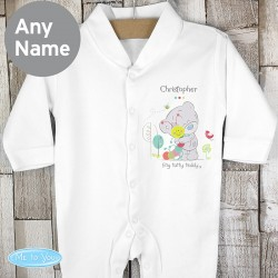 Tiny Tatty Teddy Cuddlebug Babygrow Personalised