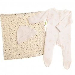 Ziggle Elephant zipped Suit, Hat and Muslin Set  3-6 months