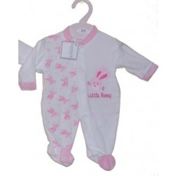 Low Birth Weight Velour Bunny All-In-One by Aardvark